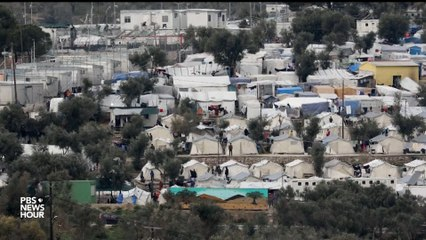 At Greek Refugee Camp, There Are Few Defenses Against Covid-19 Threat