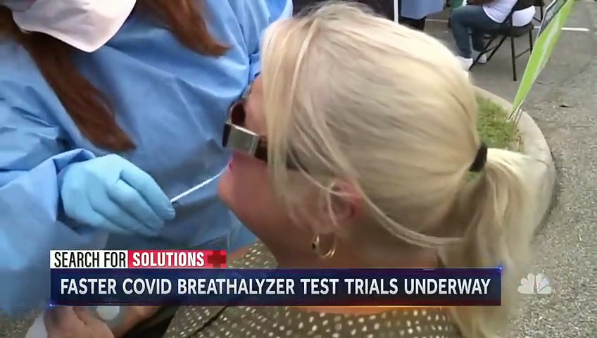 New COVID-19 Test Similar To Breathalyzer Shows Promise   NBC Nightly News