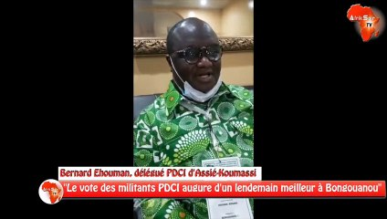 """""""Le vote des militants PDCI augure d'un lendemain meilleur à Bongouanou"""" Bernard Ehouman, délégué PDCI d'Assié-Koumassi"""