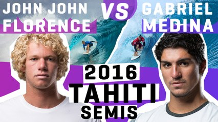 John John Florence VS Gabriel Medina 2016 Billabong Pro Tahiti semifinals | FULL HEAT REPLAY