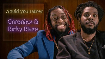Chronixx and Ricky Blaze debate aliens, riddims, and more in Would You Rather
