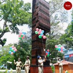 Kerala police erects 3-dimensional monument with discarded guns