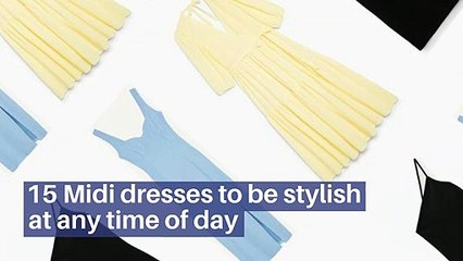 15Midi dresses to be stylish at any time of day