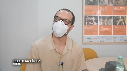 """Entrevista a Fele Martínez, uno de los protagonistas de """"Anfitrión"""", comedia estrenada en el Festival de Teatro Clásico de Mérida"""