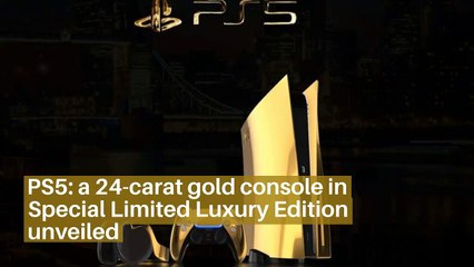 PS5: a 24-carat gold console in Special Limited Luxury Edition unveiled