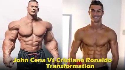 John Cena Vs Cristiano Ronaldo Transformation 2020 _ Who is Better