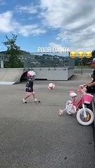 F1 - Raikkonen gioca a calcio con la figlia: la pallonata arriva nelle parti basse!