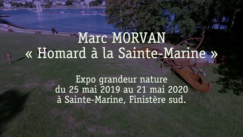 Marc MORVAN, la sculpture du Homard Géant à Sainte Marine, Finistère. 2019-2020