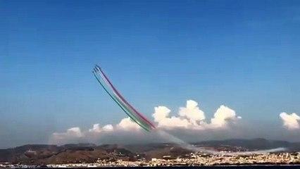 Le Frecce Tricolori a Reggio Calabria, brividi in riva allo Stretto