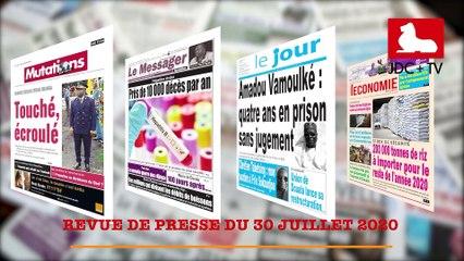 REVUE DE PRESSE CAMEROUNAISE DU 30 JUILLET 2020