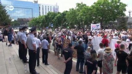 В России проходят акции в поддержку жителей Хабаровска (30.07.2020)