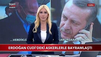 Cumhurbaşkanı Erdoğan Cudi'deki Askerlerle Bayramlaştı