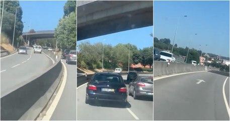 Condutor idoso filmado em contramão na circular urbana de Guimarães