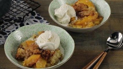 Cookie-Crusted Peach Cobbler