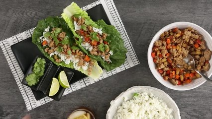 Pork Lettuce Wraps with Coconut-Lime Rice