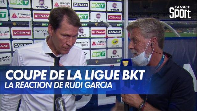 La réaction de Rudi Garcia après la finale PSG/OL