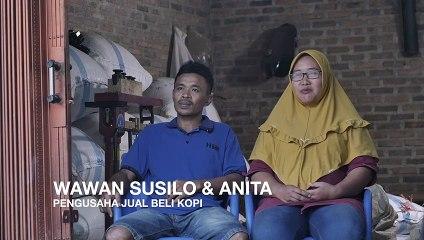 Wawan Susilo dan Anita, pengusaha jual beli kopi.
