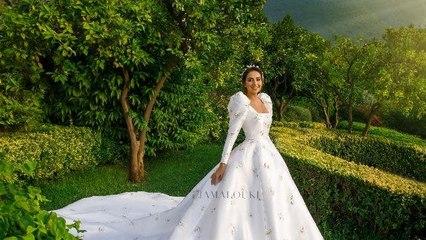 لقطات خاصة وحصرية من الكواليس لفستان زفاف فاليري أبو شقرا من دار ديور