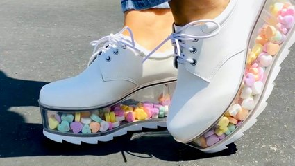 You can customize these platform shoes by filling them with anything