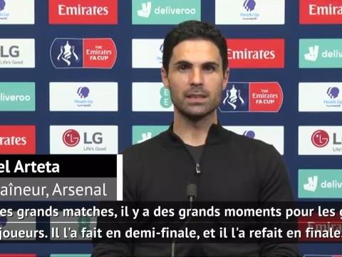 """Finale - Arteta conquis par Aubameyang : """"Il a joué un rôle immense dans notre victoire"""""""