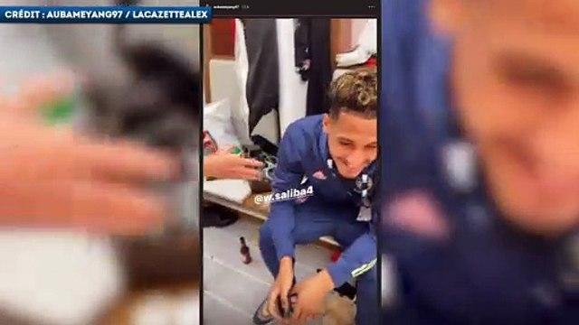 Alexandre Lacazette déchaîné après la victoire d'Arsenal en FA Cup