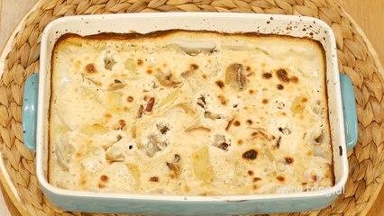 Receta në 2 minuta - Tavë me patate dhe kërpudha
