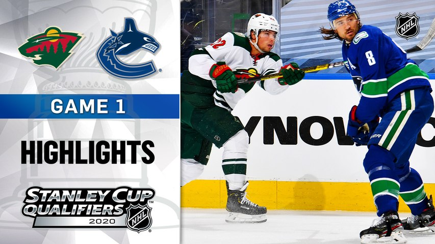 NHL Highlights | Wild @ Canucks  8/02/2020