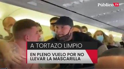 A mamporros en un vuelo Amsterdam-Ibiza por la mascarilla