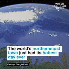 The world's northernmost town just had its hottest day ever