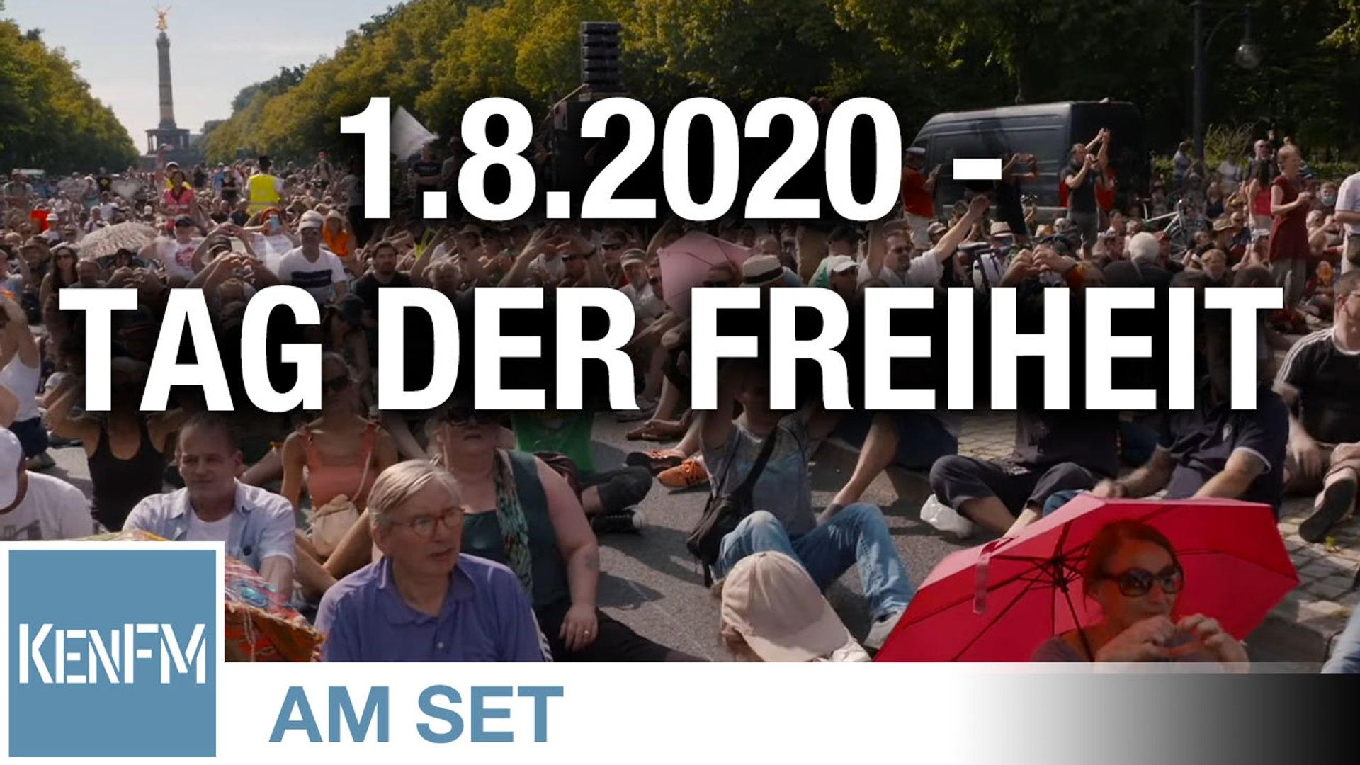 """KenFM am Set: Demo """"Das Ende der Pandemie – Der Tag der Freiheit"""" am 1.8.2020 in Berlin (Teil 2)"""