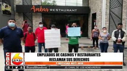 Empleados de casinos y restaurantes reclaman sus derechos