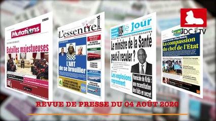 REVUE DE PRESSE CAMEROUNAISE DU 04 AOÛT 2020