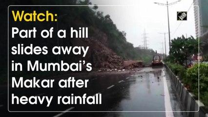 Watch: Part of a hill slides away in Mumbai's Makar after heavy rainfall