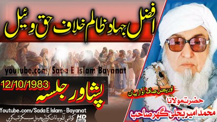 Molana Bijlee Ghar sahb Bayan - Afzal Jihaad Haq Wena-Peshawar Jalsa مولانا محمد امیر بجلی گھر صاحب