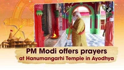 PM Modi offers prayers at Hanumangarhi Temple in Ayodhya