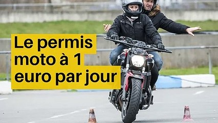 Le permis moto à 1 euro par jour