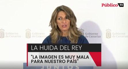 """Yolanda Díaz:  """"La imagen es muy mala para nuestro país"""""""
