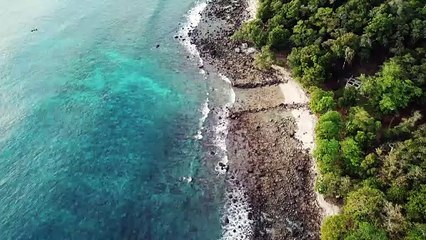 Beautiful shore beach view