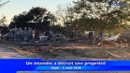 AGDE - Un incendie a détruit une propriété