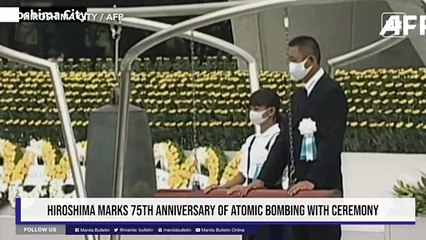 Hiroshima marks 75th anniversary of atomic bombing with ceremony