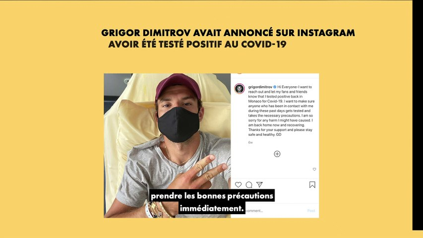 "Grigor Dimitrov : ""Rester seul a été salutaire"""