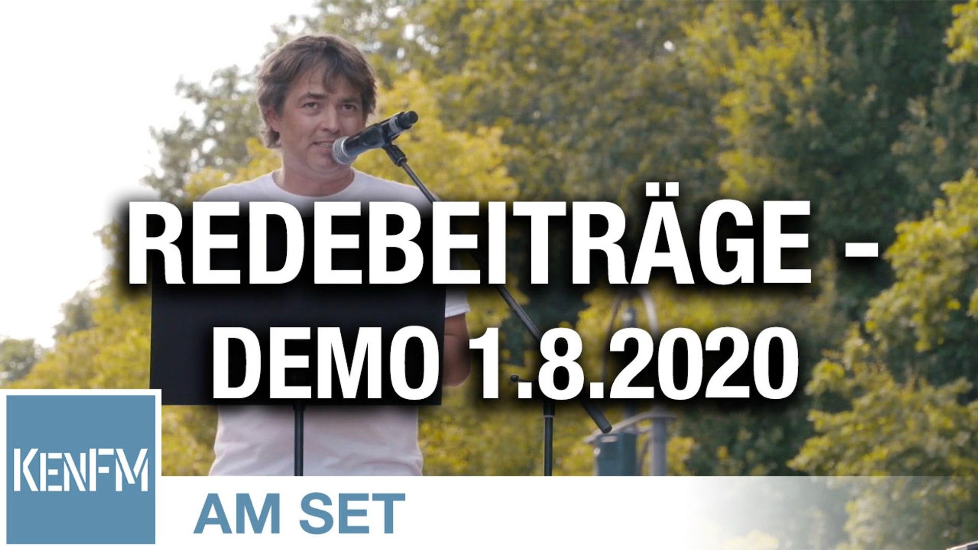 """Ausschnitte der Redebeiträge auf der Demo """"Das Ende der Pandemie – Der Tag der Freiheit"""" am 1.8.2020"""