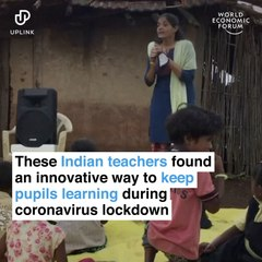 These Indian teachers found an innovative way to keep pupils learning during coronavirus lockdown