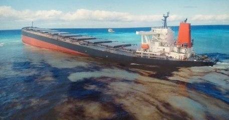Près de l'île Maurice, 3800 tonnes de fuel se déversent dans la mer après le naufrage d'un navire
