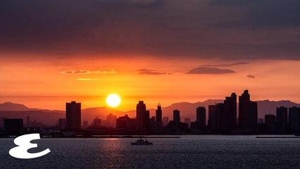 Marooned OFW in Manila Bay Captures the Sunrise and Sunset During Quarantine