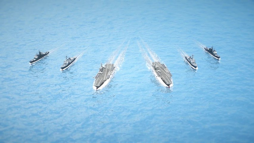 U.S. Navy carriers conduct exercises at South China Sea
