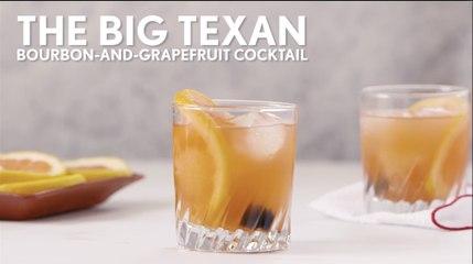 Big Texan Bourbon and Grapefruit Cocktail