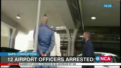 12 airport officers arrested
