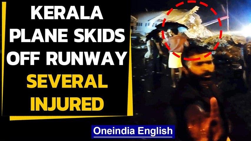 Kerala plane overshoots runway, splits in 2   Oneindia News