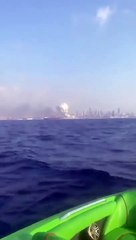 Beirut Blast Recorded by Mobile from Boat